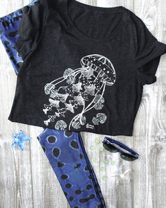 Moonrise Puffer Leggings and Ghost Jellies Tee Mockup