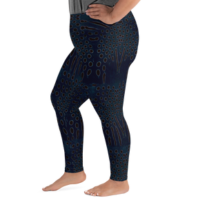 Moonrise Puffer Plus Size Leggings - Scuba Sisters Diving Apparel