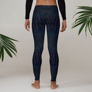 Moonrise Puffer Leggings - Inspired by the Sharpnose Pufferfish