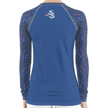 Load image into Gallery viewer, Sunrise Puffer Women's Rash Guard - Scuba Sisters Diving Apparel