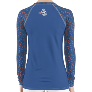 Sunrise Puffer Women's Rash Guard - Scuba Sisters Diving Apparel