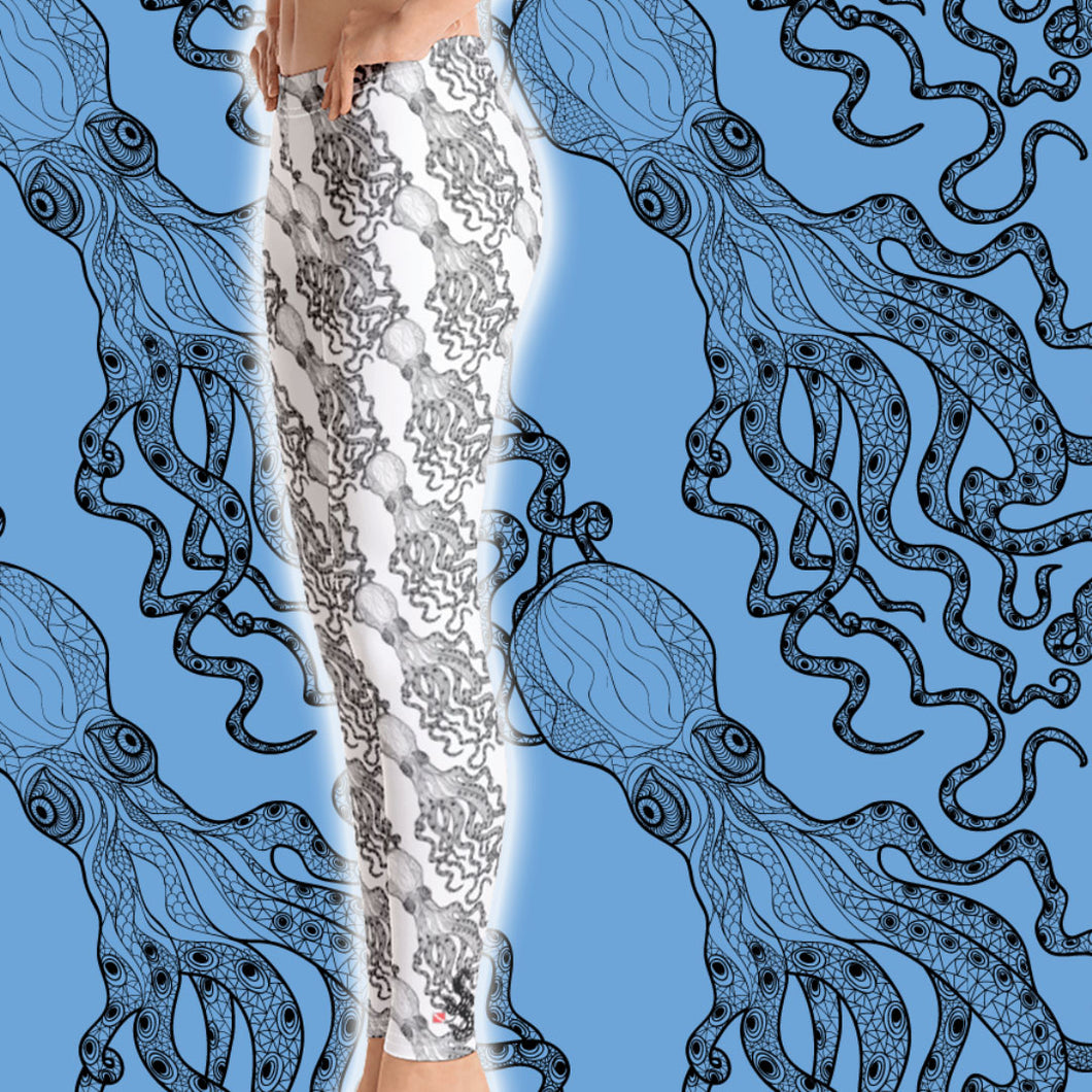 Octopus Sea Leggings - Scuba Sisters Diving Apparel