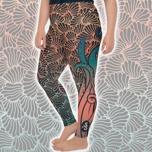 Women's Octopus Scuba Diving Leggings by Scuba Sisters