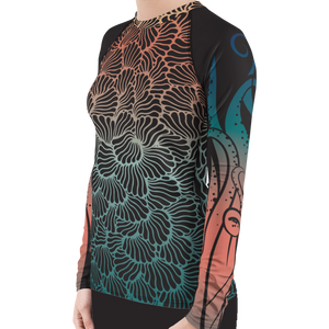 Women's Octopus Rash Guard by Scuba Sisters
