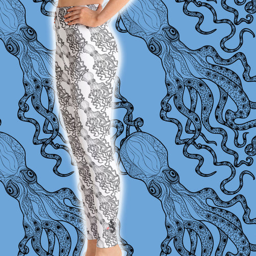 Octopus Sea Leggings - High Waist - Scuba Sisters Diving Apparel