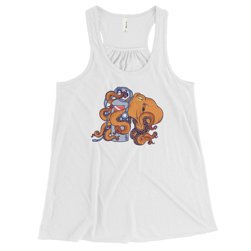 Octopus beach wear for ladies white