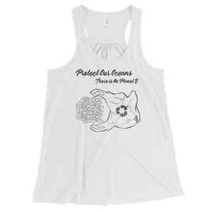 Protect Our Oceans - There is No Planet B - Flowy Racerback Tank - Scuba Sisters Diving Apparel