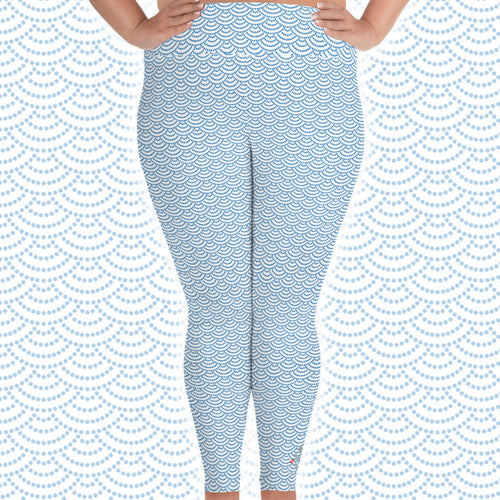 Fish Scale Mermaid Plus Size Scuba Diving Leggings