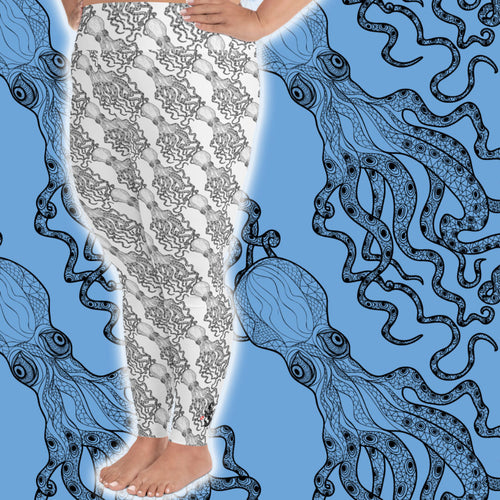 Octopus Sea Plus Size Leggings - Scuba Sisters Diving Apparel