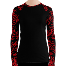 Load image into Gallery viewer, Women's Sea Fan Scuba Diving Rash Guard by Scuba Sisters