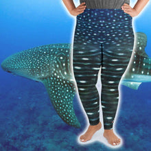 Load image into Gallery viewer, Whale Shark Plus Size Leggings - Scuba Sisters Diving Apparel