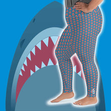 Load image into Gallery viewer, Shark Lover Plus Size Leggings - Scuba Sisters Diving Apparel