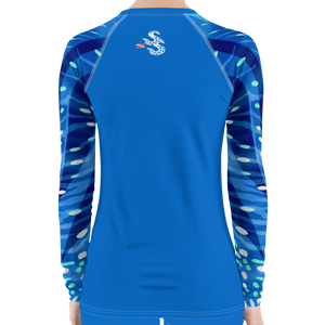 Pop Style Whale Shark Rash Guard by Scuba Sisters
