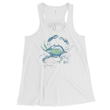 Load image into Gallery viewer, Ladies Crab Tank Top by Scuba Sisters - White
