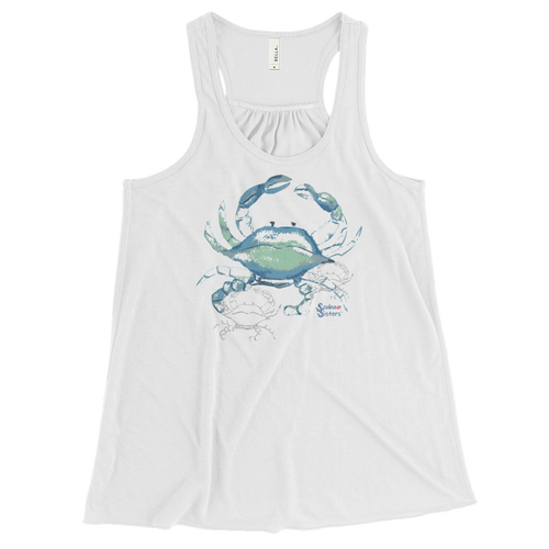 Shadow Crab Tank - Flowy Racerback - Scuba Sisters Diving Apparel