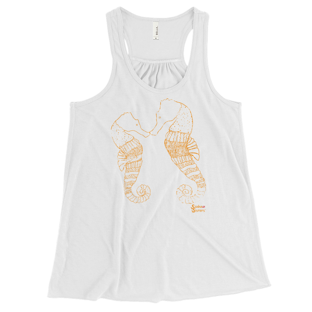Ladies Seahorse Tank by Scuba Sisters - White