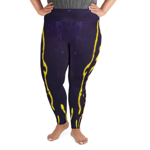 Regal Sea Goddess Plus Size Leggings - Scuba Sisters Diving Apparel