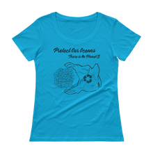 Load image into Gallery viewer, Protect Our Oceans - There is No Planet B - Relaxed Scoopneck Tee - Scuba Sisters Diving Apparel
