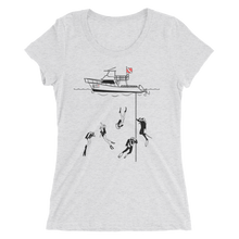 Load image into Gallery viewer, Diving With My Scuba Sisters Tee - Fitted Scoopneck - Scuba Sisters Diving Apparel