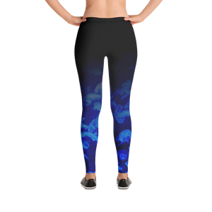 Jellyfish Bloom Scuba Leggings Mockup
