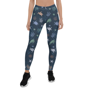 Sea Turtle Leggings by Scuba Sisters