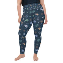 Load image into Gallery viewer, Sea Turtle Plus Size Leggings by Scuba Sisters