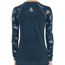 Load image into Gallery viewer, Sea Turtle Rash Guard by Scuba Sisters