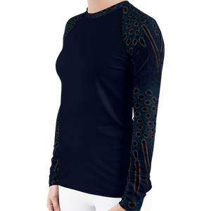 Moonrise Puffer Women's Rash Guard - Scuba Sisters Diving Apparel