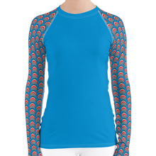 Load image into Gallery viewer, Shark Rash Guard for Women by Scuba Sisters