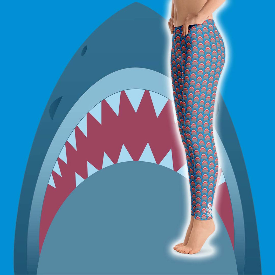 Shark Lover Leggings - Scuba Sisters Diving Apparel