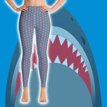 Load image into Gallery viewer, Shark Lover Leggings - High Waist - Scuba Sisters Diving Apparel