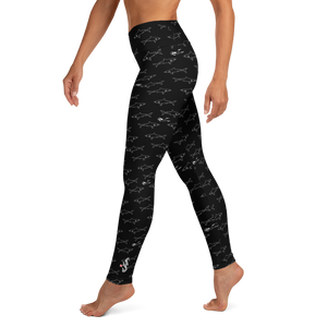 Shark Divers Leggings - High Waist - Scuba Sisters Diving Apparel