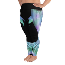 Load image into Gallery viewer, Shimmering Mermaid Tail Plus Size Leggings
