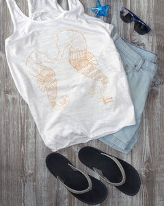 Smooching Seahorses Tank and Shorts Beachwear Outfit