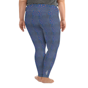 Sunrise Puffer Plus Size Leggings - Scuba Sisters Diving Apparel