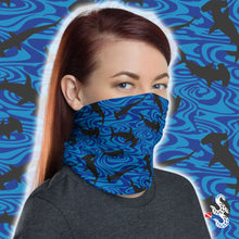Load image into Gallery viewer, Hammerhead Scuba Diving Neck Gaiter and Face Cover by Scuba Sisters