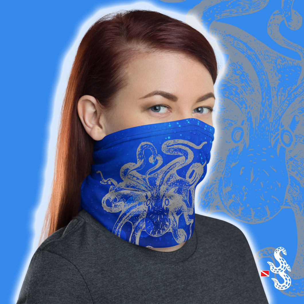 Octopus Face Cover and Neck Gaiter by Scuba Sisters