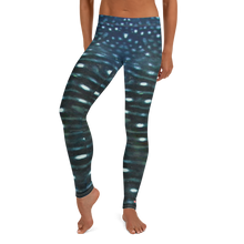 Load image into Gallery viewer, Whale Shark Leggings - Scuba Sisters Diving Apparel