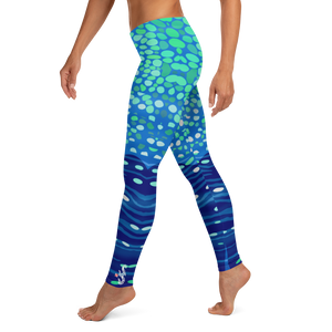 Whale Shark Leggings - Pop Style - Scuba Sisters Diving Apparel