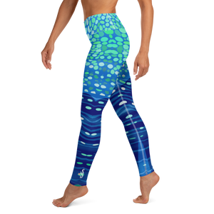 Whale Shark Leggings - Pop Style - High Waist - Scuba Sisters Diving Apparel