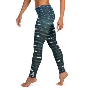 Whale Shark Leggings - Scuba Sisters Diving Apparel