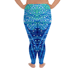 Whale Shark Plus Size Leggings - Pop Style - Scuba Sisters Diving Apparel