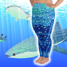 Load image into Gallery viewer, Whale Shark Plus Size Leggings - Pop Style - Scuba Sisters Diving Apparel