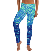 Load image into Gallery viewer, Whale Shark Leggings - Pop Style - Scuba Sisters Diving Apparel