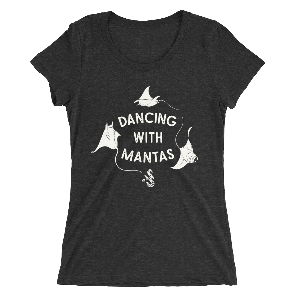 Dancing With Mantas Tee - Fitted Scoopneck