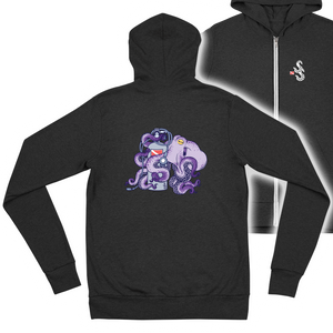 Women's Octopus Scuba Diving Zip Hoodie by Scuba Sisters