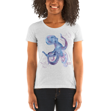 Load image into Gallery viewer, Woman Wearing Ladies Octopus Shirt by Scuba Sisters