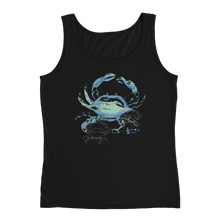 Load image into Gallery viewer, Ladies Crab Tank Top by Scuba Sisters - Black