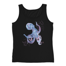 Load image into Gallery viewer, Ladies Octopus Tank Top by Scuba Sisters - Black