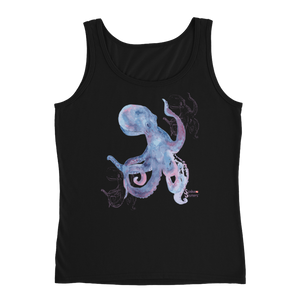 Ladies Octopus Tank Top by Scuba Sisters - Black